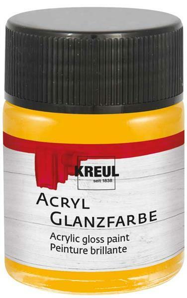 Acryl Glanzfarbe - 50 ml, dunkelgelb