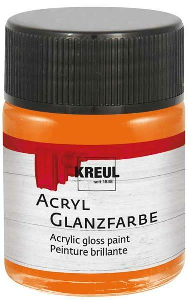 Peinture acrylique brillante - 50 ml, orange