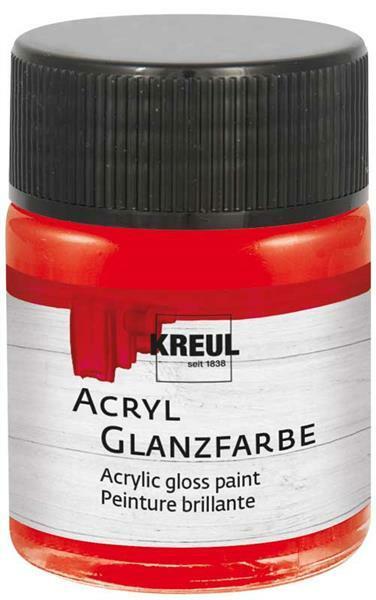 Peinture acrylique brillante - 50 ml, rouge