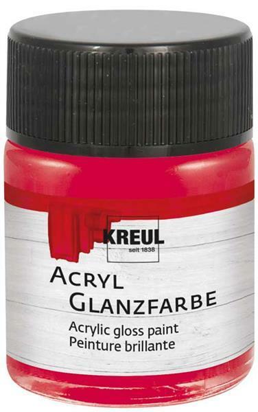 Peinture acrylique brillante - 50 ml, rouge foncé