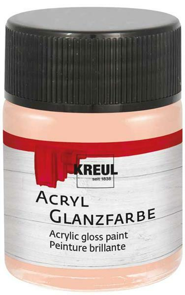 Peinture acrylique brillante - 50 ml, rose poupée