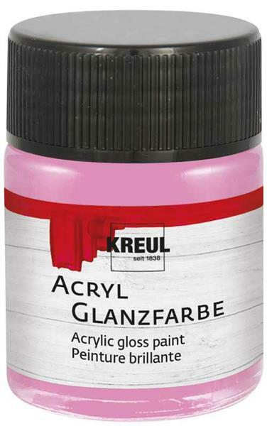 Acryl glansverf - 50 ml, roze