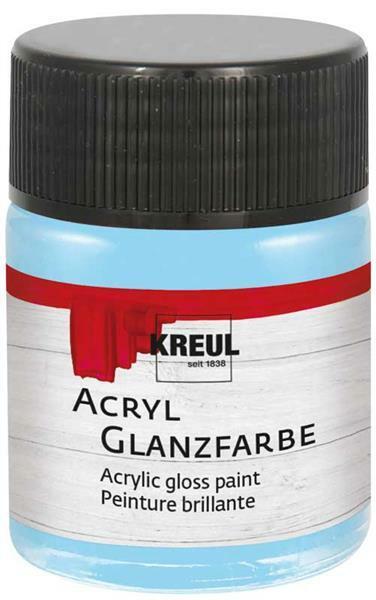 Acryl Glanzfarbe - 50 ml, hellblau