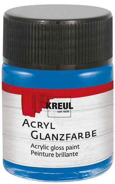 Acryl Glanzfarbe - 50 ml, blau
