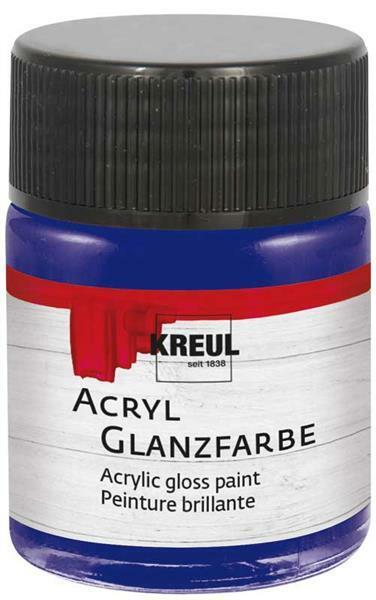 Acryl Glanzfarbe - 50 ml, dunkelblau