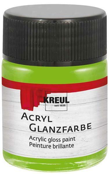 Acryl Glanzfarbe - 50 ml, lindgrün