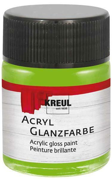 Acryl glansverf - 50 ml, lichtgroen