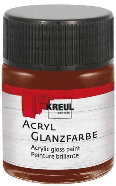 Acryl glansverf - 50 ml, bruin