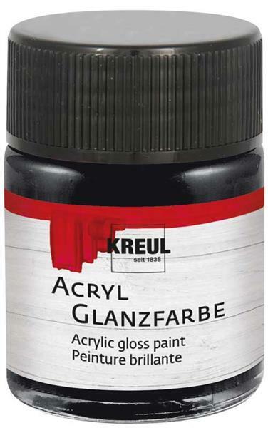 Acryl Glanzfarbe - 50 ml, schwarz