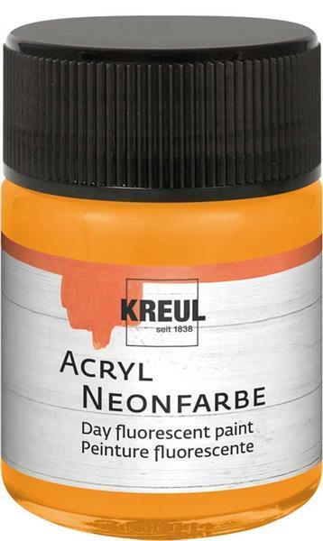 Peinture acrylique néon - 50 ml, orange néon