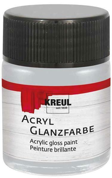 Acryl Glanzfarbe - 50 ml, silber