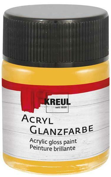 Acryl Glanzfarbe - 50 ml, gold