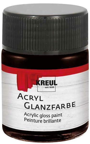Acryl Glanzfarbe - 50 ml, dunkelbraun