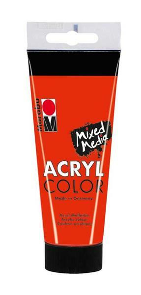 Marabu Acryl Color - 100 ml, zinnoberrot