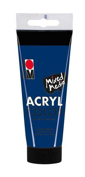 Marabu Acryl Color - 100 ml, bleu foncé