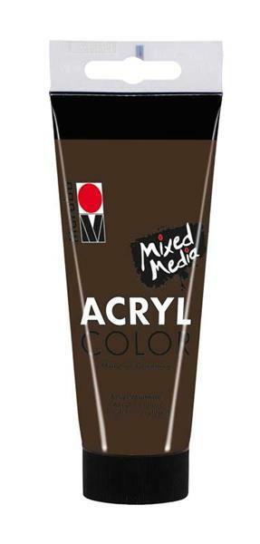 Marabu Acryl Color - 100 ml, brun foncé
