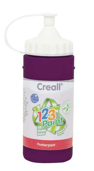Creall 1-2-3 Paint navulverpakking - 3 st. violet