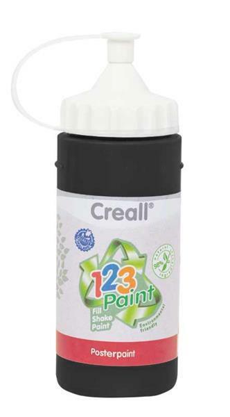 Creall 1-2-3 Paint Nachfüllfarbe - 3 Stk, schwarz