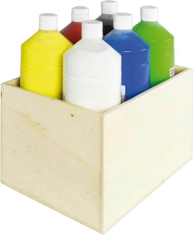 Aduis voordeelpakket - 6x plakkaatverf met houten