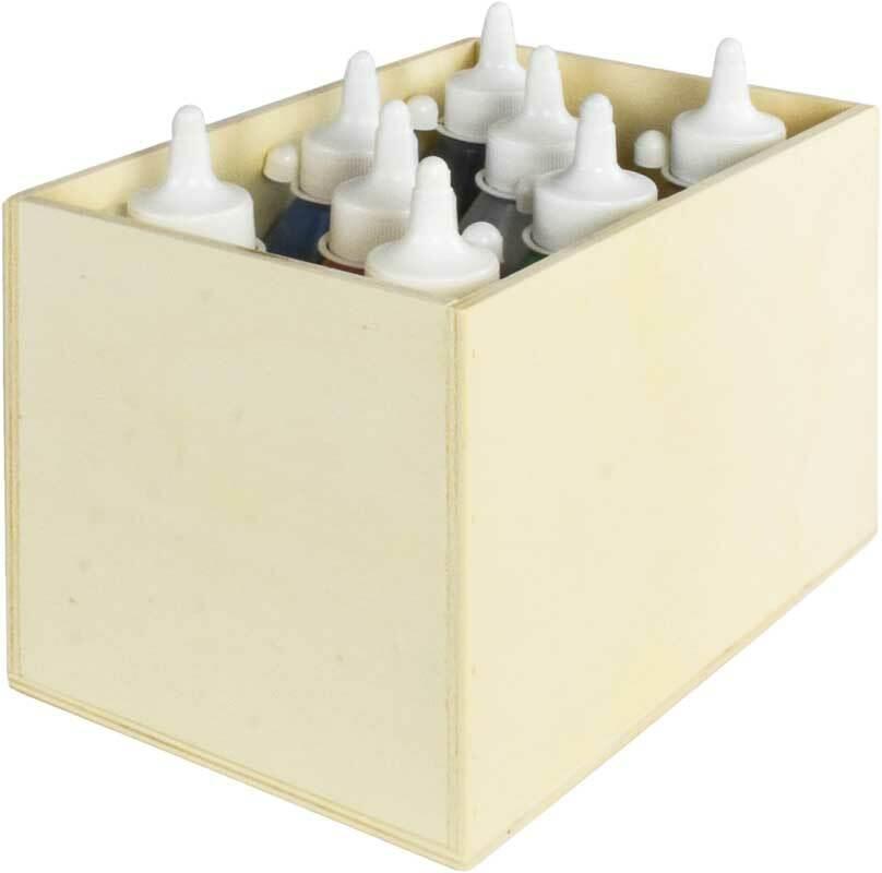 Aduis voordeelpakket - 8 st. acrylverf met houten
