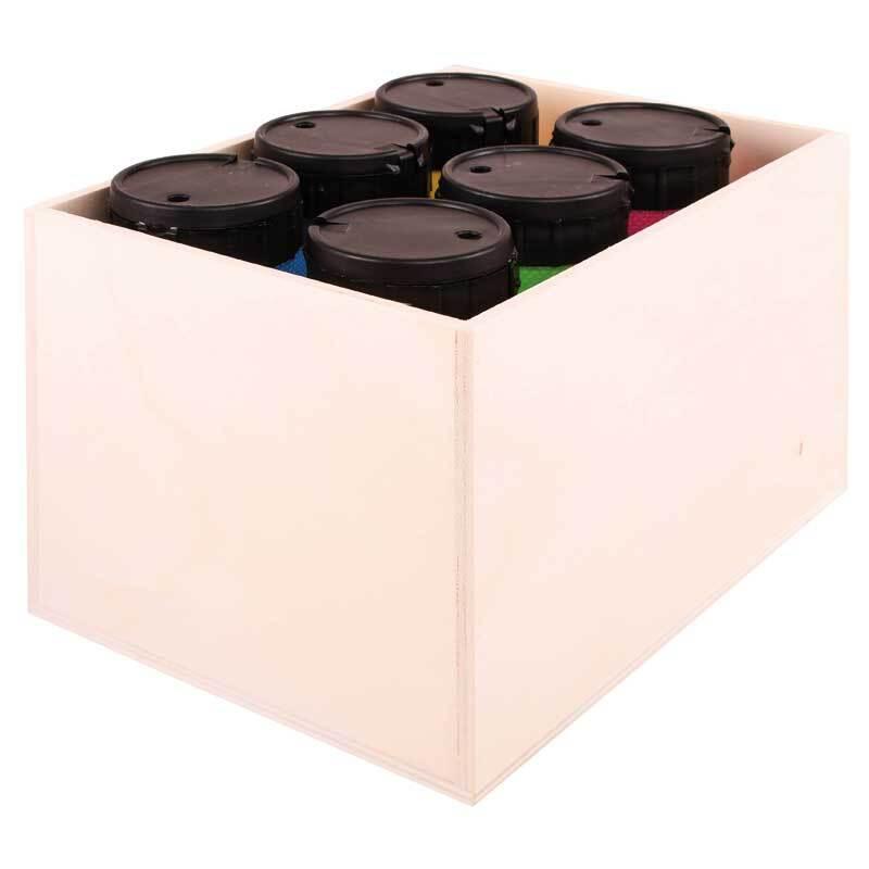 Aduis Sparpaket - 6 Acrylfarben mit Holzbox