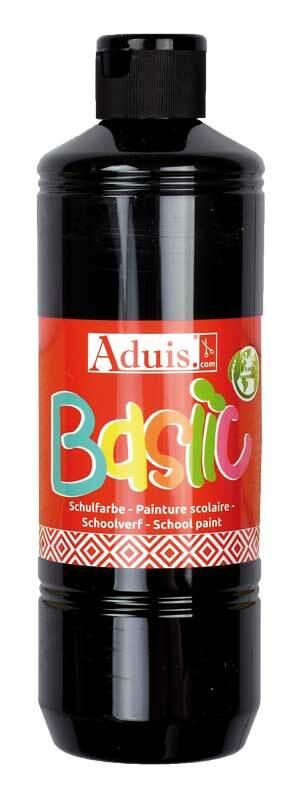 Aduis Basiic Schulfarbe - 500 ml, schwarz