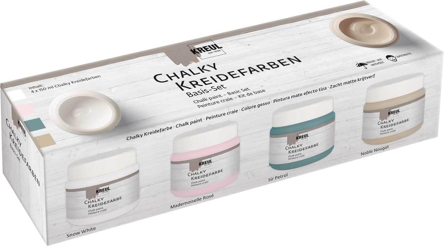Chalky Kreidefarben - Basis Set, 4 Farben
