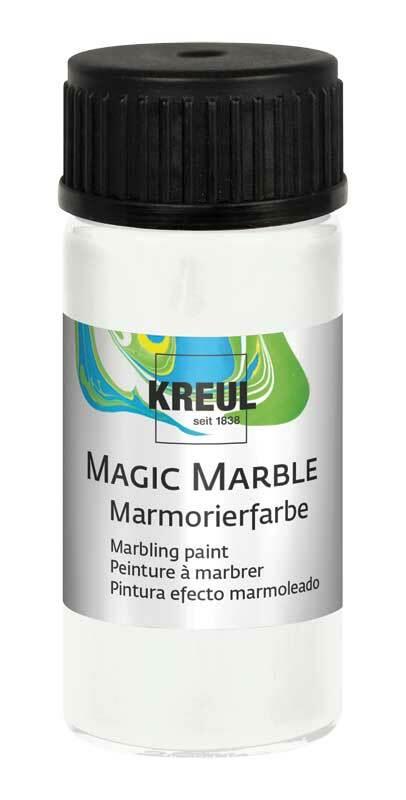 Marmorierfarbe - 20 ml, weiß