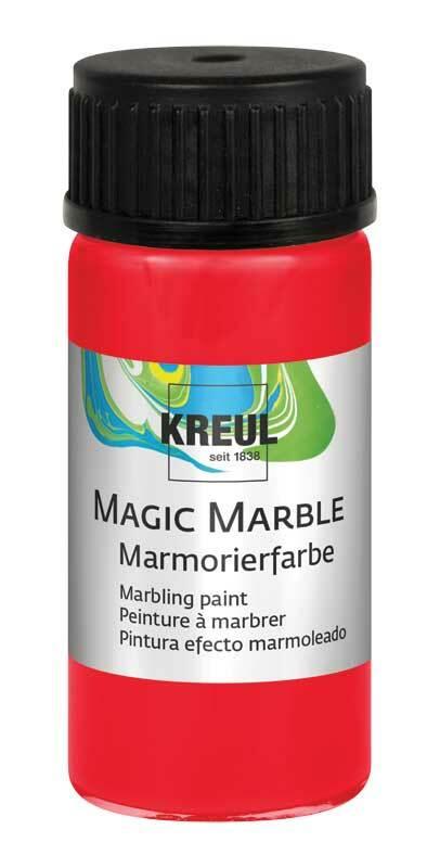 Marmerverf - 20 ml, rood
