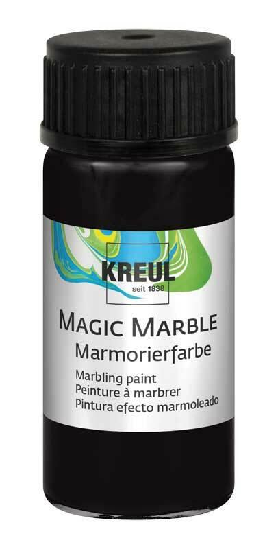 Marmorierfarbe - 20 ml, schwarz