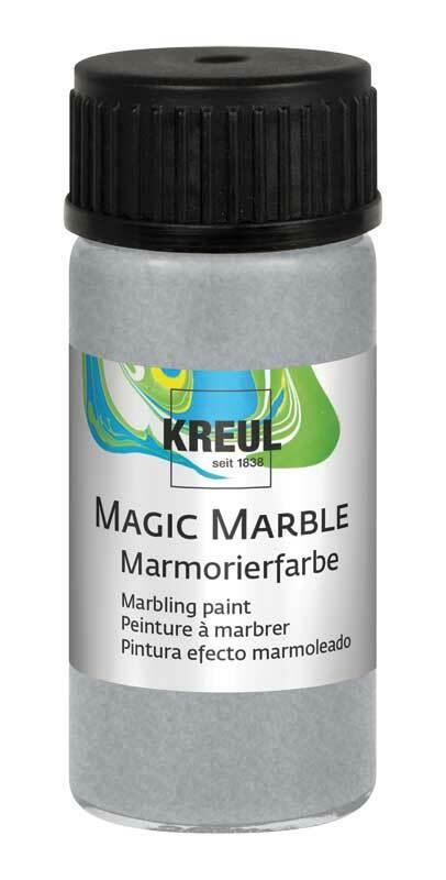 Marmorierfarbe - 20 ml, glitzer-silber
