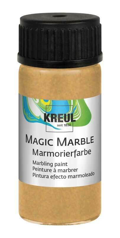 Marmorierfarbe - 20 ml, glitzer-gold