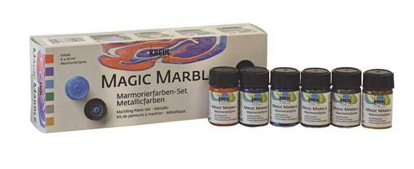 Marmorierfarbe Magic Marble - 6er Set, metallic