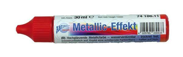 Metaalglans-effectcolour - 30 ml, rood