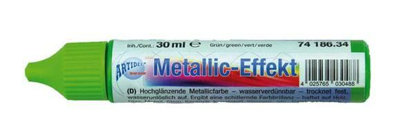 Metaalglans-effectcolour - 30 ml, groen