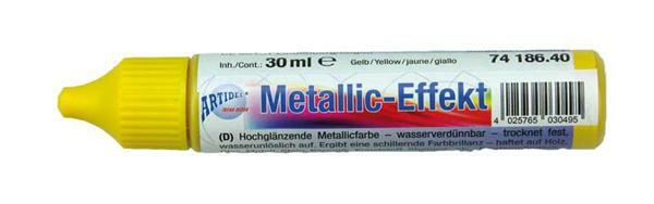 Metaalglans-effectcolour - 30 ml, geel