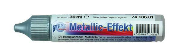 Metaalglans-effectcolour - 30 ml, zilver