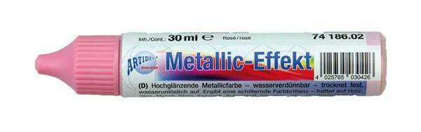 Metaalglans-effectcolour - 30 ml, roze