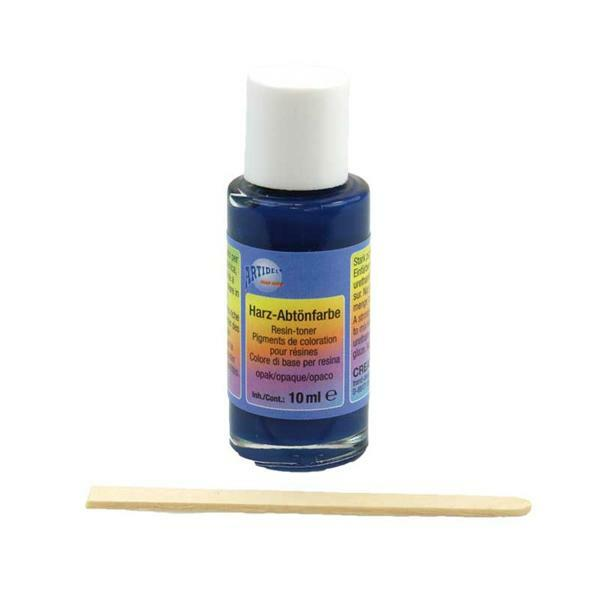 Koudglazuur aflakverf - 10 ml, opaak middenblauw
