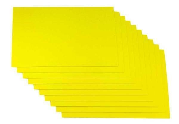 Moosgummi - 10er Pkg, 20 x 29 cm, gelb