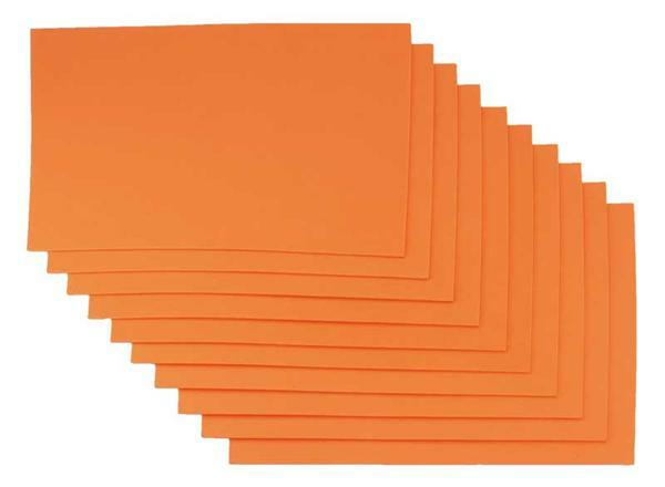 Moosgummi - 10er Pkg, 20 x 29 cm, orange
