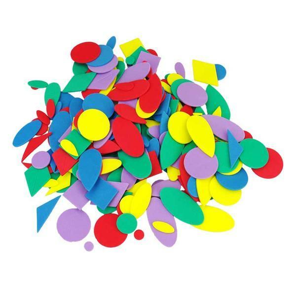Caoutchouc mousse - formes géom., 200 pces