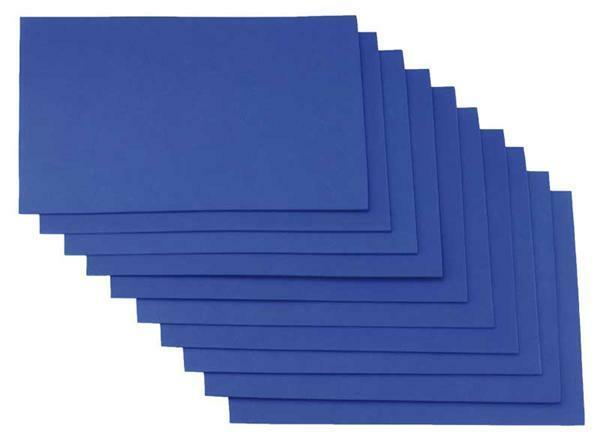 Caoutchouc mousse - 10 pces, 20x29 cm, bleu roi