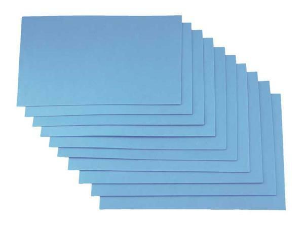 Moosgummi - 10er Pkg, 20 x 29 cm, himmelblau