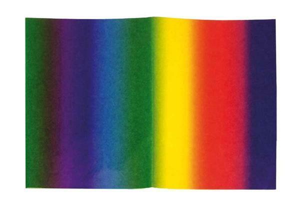 Bloemenzijde - 5 vellen, regenboog