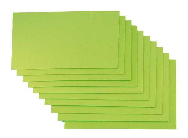 Caoutchouc mousse - 10 pces, 20x29 cm, vert clair