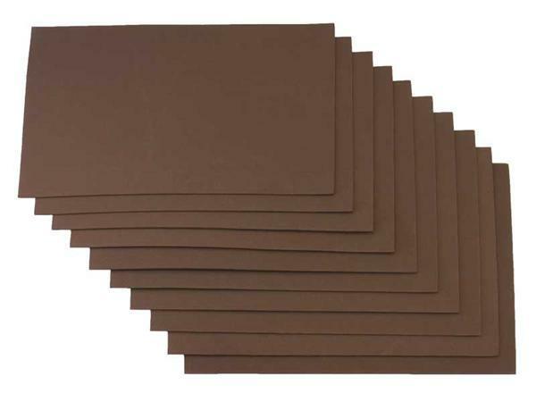 Caoutchouc mousse - 10 pces, 20 x 29 cm, chocolat