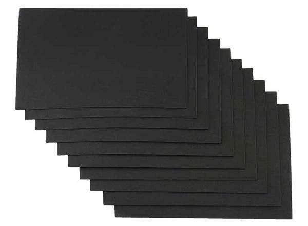 Moosgummi - 10er Pkg, 20 x 29 cm, schwarz