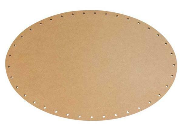 Mandvlechtbodem - ovaal, 30 x 20 cm