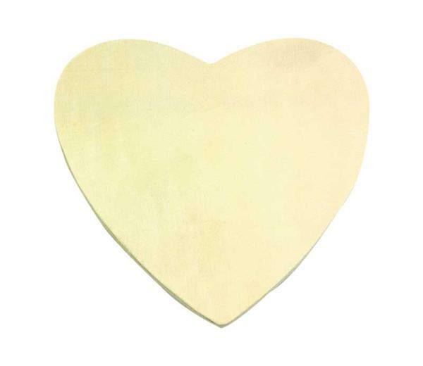 Cœur en bois - 13 x 13 cm